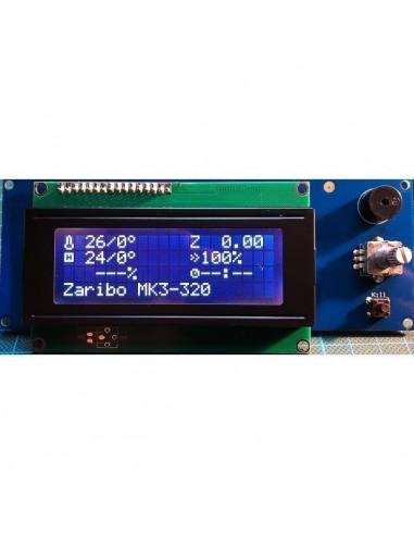 20x4 LCD Display by LDO white / black